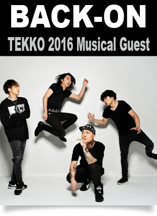 BACK-ON in concert at TEKKO 2016